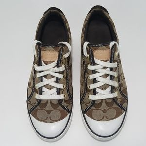 Coach Barrett Canvas Leather Athletic Sneakers